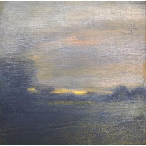 Twilight 2, oil on panel, 15 x 15cm