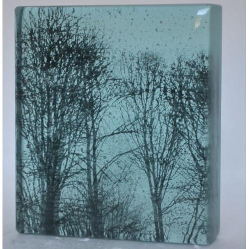 Branches, turquoise, mini cast, 9x8cm