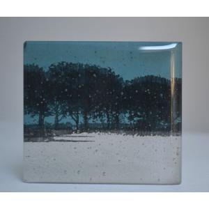 Treeline, turquoise, mini cast, 8x9cm