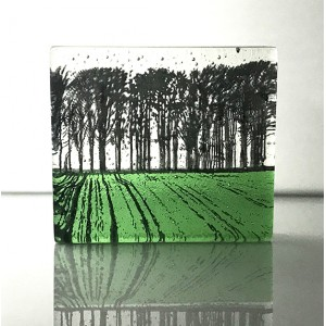 Forest, Fern Green & black, mini cast 8x9cm