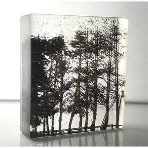 Treeline, sepia and clear, mini cast 9x8cm