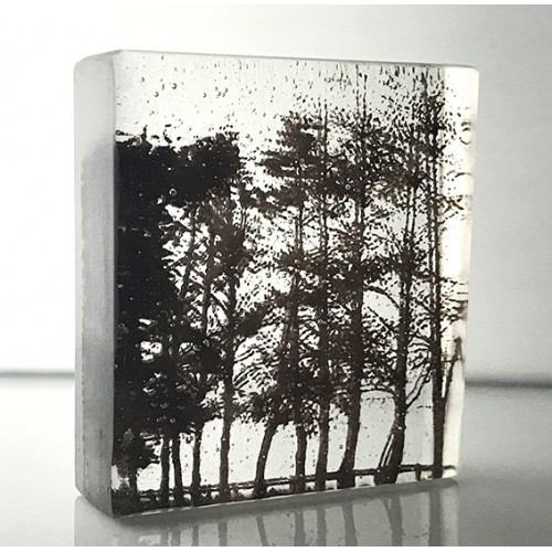 Treeline, sepia and clear, mini cast 9x8cm
