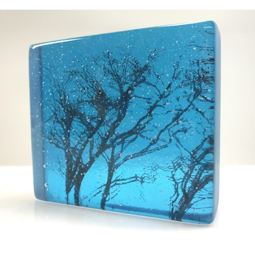 Winter Branches, Turquoise, mini cast 8x9cm