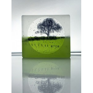 Fresh Fields, frosted black and fern green mini cast, 8x9cm