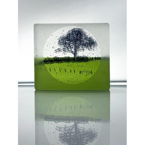 Fresh Fields, frosted black and fern green mini cast, 8x9cm