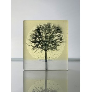 Young Tree, frosted black & yellow, mini cast