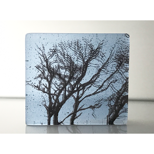 Winter Branches, neo lavender shift and sepia, mini cast, 8x9cm