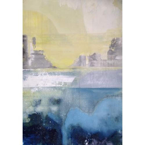 Blue, Grey & Yellow Landscape