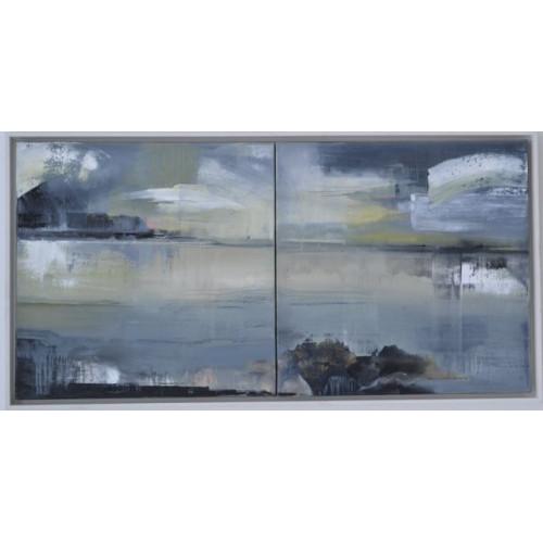 Framed size: 53.5 x 104.5 x 5cm