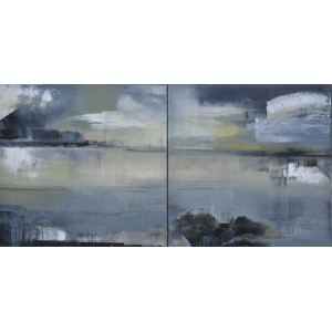 Over Tranquil Waters, diptych