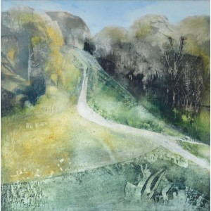 Winstone Hill, oil on panel, 40 x 40cm