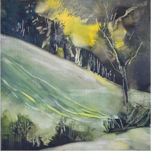 Slad Valley Field, oil on panel, 30 x 30cm