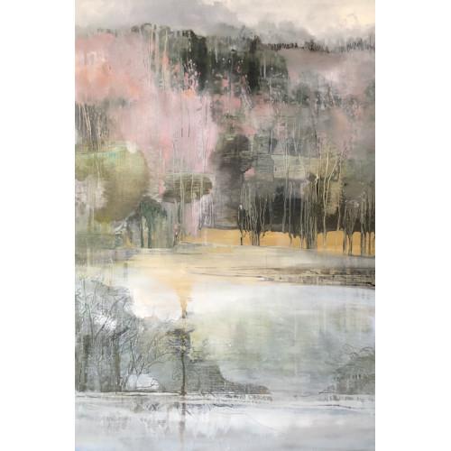 Deeside Birches 3, oil on panel, 61 x 91cm