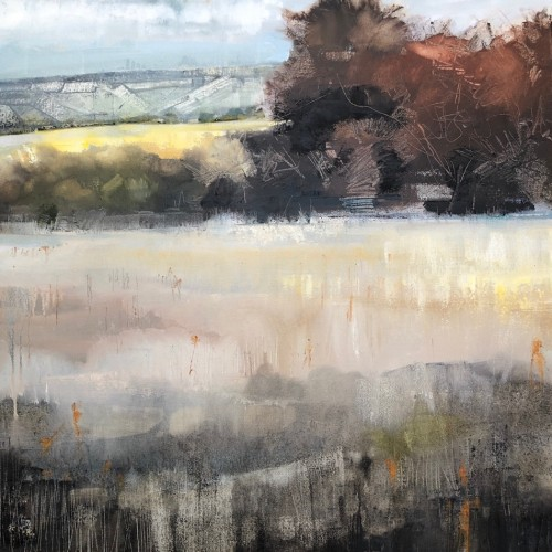 Blockley Fields, oil on canvas, 60 x 60cm