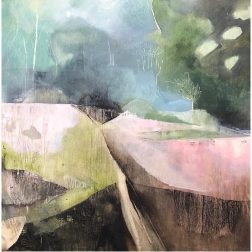 Pembrokeshire Landscape, oil on panel, 51 x 51cm