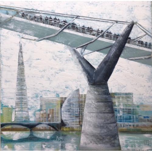 Under the Bridge, oil on board, 60 x 60cm