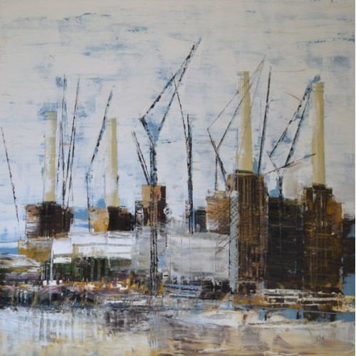 Battersea Power Station 2, oil on canvas, 60 x 60cm