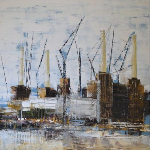 Battersea Power Station 2, oil on canvas, 60 x 60cm