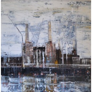 Battersea Power Station 3, oil on canvas, 60 x 60cm