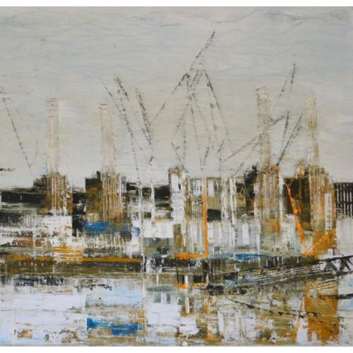 Battersea Power Station 4, oil on canvas, 60 x 60cm