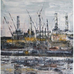 Battersea Power Station 5, oil on canvas, 60 x 60cm