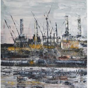 Battersea Power Station 5, oil on canvas, 60 x 60cm