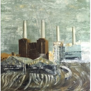 Battersea Power Station 6, oil on canvas, 60 x 60cm