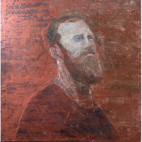 Bronze Bearded Man, oil on canvas, 60 x 60cm