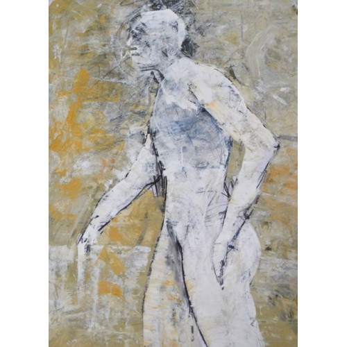 Standing Figure 1, oil on paper, 84.1 x 59.4cm