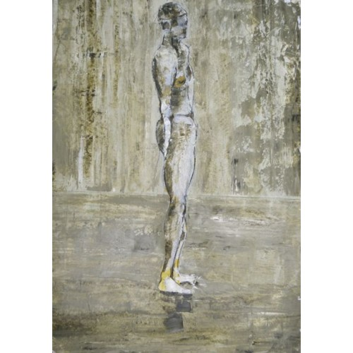 Standing Figure 2, oil on paper, 84.1 x 59.4cm