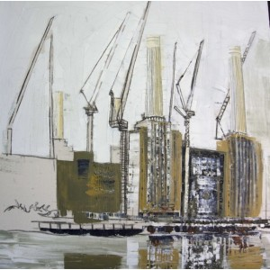 Battersea Power Station 7, oil on canvas, 92 x 92cm
