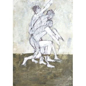 Moving Figure 1, oil on paper, 84.1 x 59.4cm