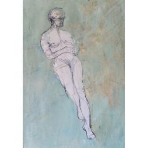 Reclining Woman, oil on paper, 84.1 x 59.4cm