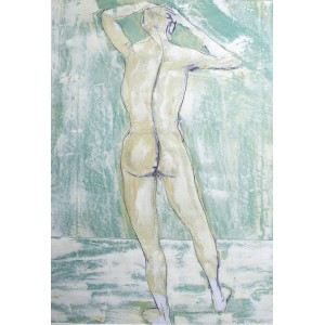 Standing Nude, oil on paper, 84.1 x 59.4cm