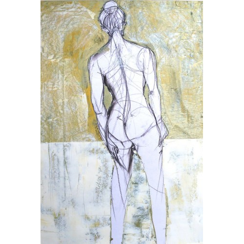 Standing Nude. oil on paper, 84.1 x 59.4cm