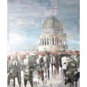 Winter Morning, St Pauls, oil on canvas, 60x50cm