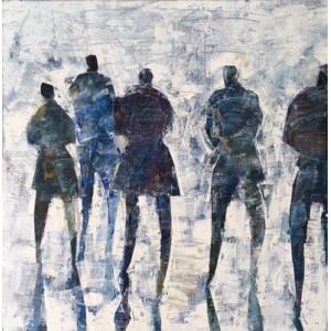 Canary Wharf, oil on canvas, 60x 60cm