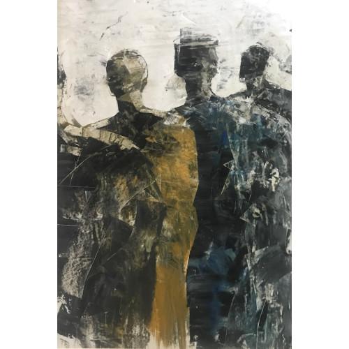 Reunion, oil on paper, 84.1 x 61cm, u/f