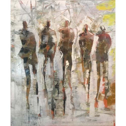 The Promenade, oil on canvas, 60 x 50.2cm