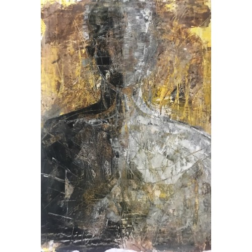 Shadow Man 2, oil on paper, 84.1 x 61cm