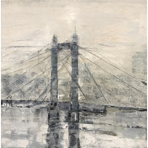 Albert Bridge, oil on canvas, 60 x 60cm