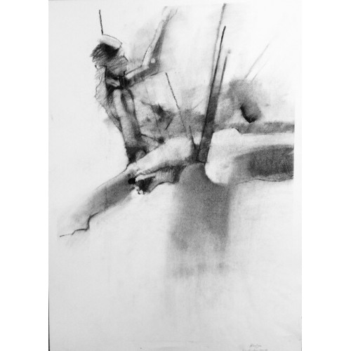 Balance, charcoal on paper, 70 x 50cm
