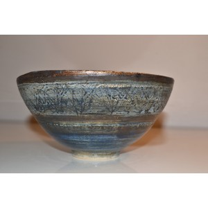 ceramic stoneware bowl,  (blue/green)