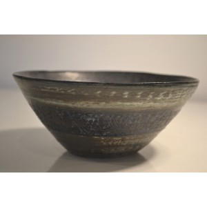 ceramic stoneware bowl, small blue