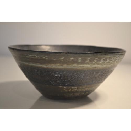 ceramic stoneware bowl, small blue