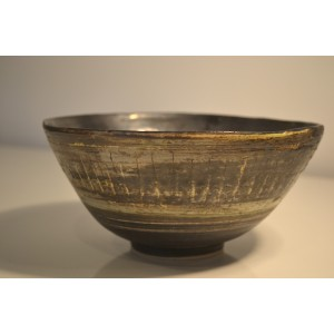 ceramic stoneware bowl, medium (blue/cream)