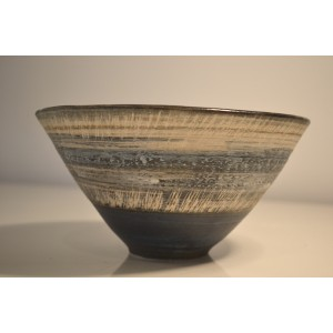 ceramic stoneware bowl, (copper/brown)