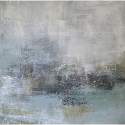 Tidal Flats 2, oil and cold wax on canvas, 61 x 61cm