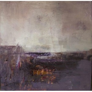 Arisaig 1, oil and cold wax on board, 25 x 25cm