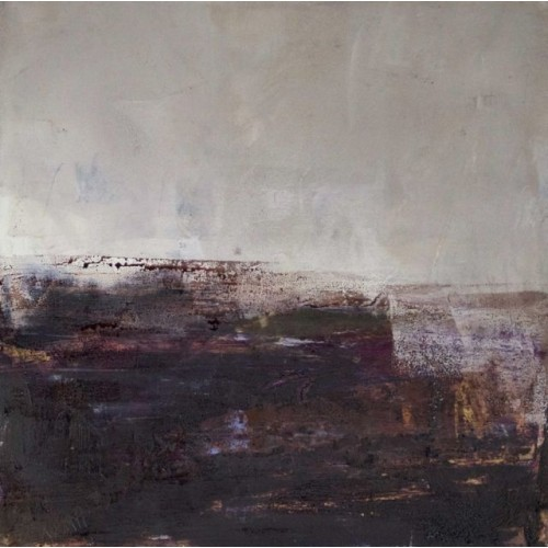 Arisaig 2, oil and cold wax on board, 25 x 25cm